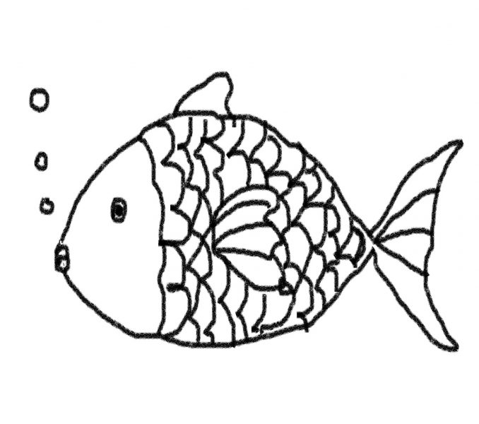 678x600 Fish Line Drawings Kids Coloring