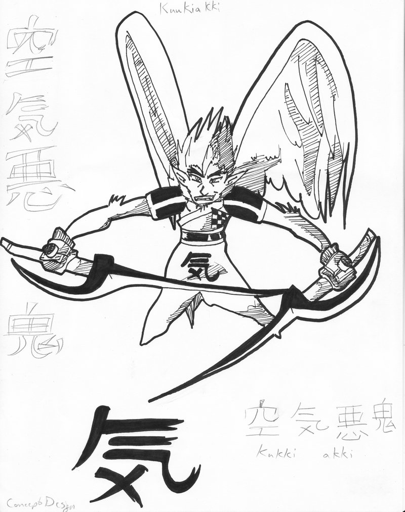 800x1013 The Air Demon Kuukiakki By Isdailic