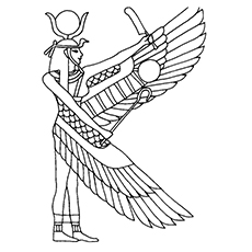 230x230 Goddess Isis Coloring Pages Witch Coloring Pages