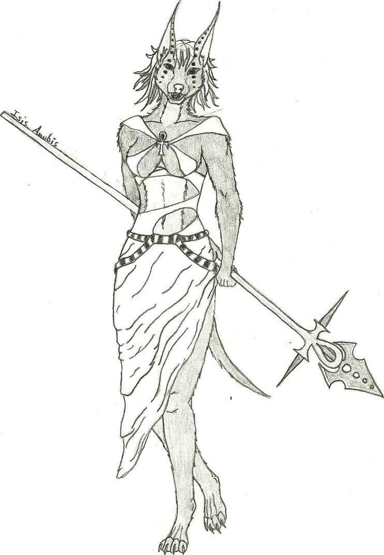 742x1075 Isis Anubis