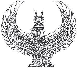 300x262 Isis Coloring Page Pagan Goddess Egyptian, Tattoo