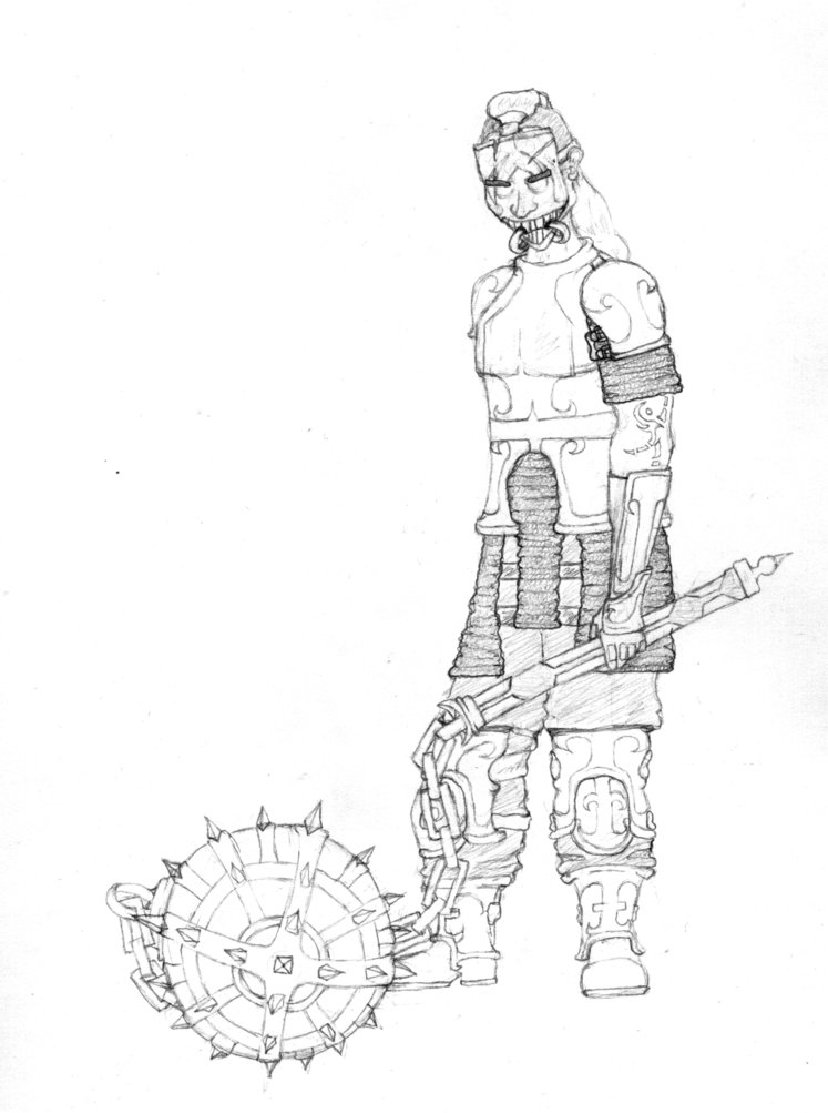 747x1003 Flail Warrior By Mislaid Isis