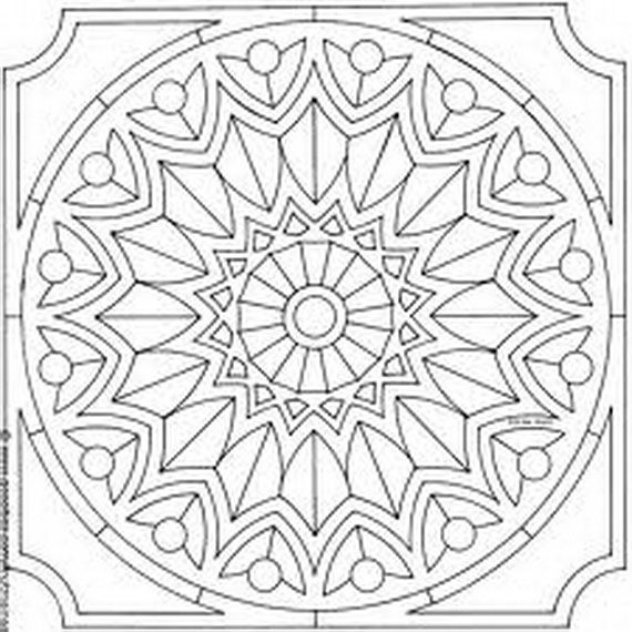 570x570 Islamic Mosaic Coloring Pages Preschool To Humorous Draw Paint
