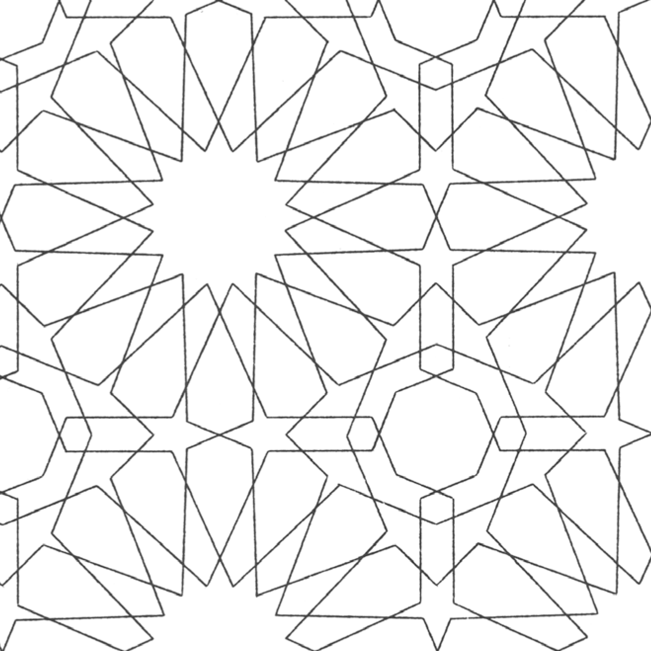 1317x1317 Arabicpatterns Colouring Pages Islamic Geometric