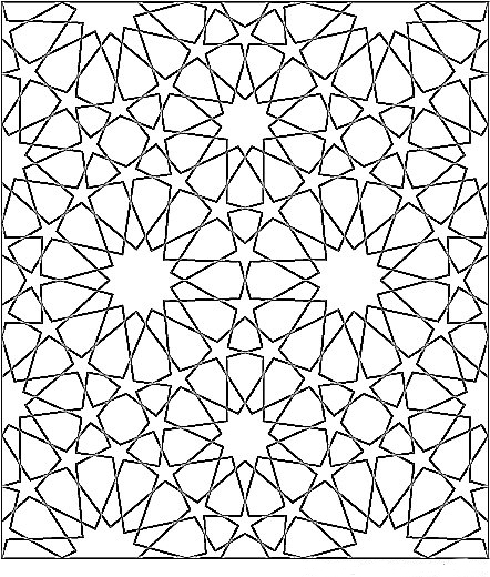 442x520 Islamic Geometric Patterns Black And White