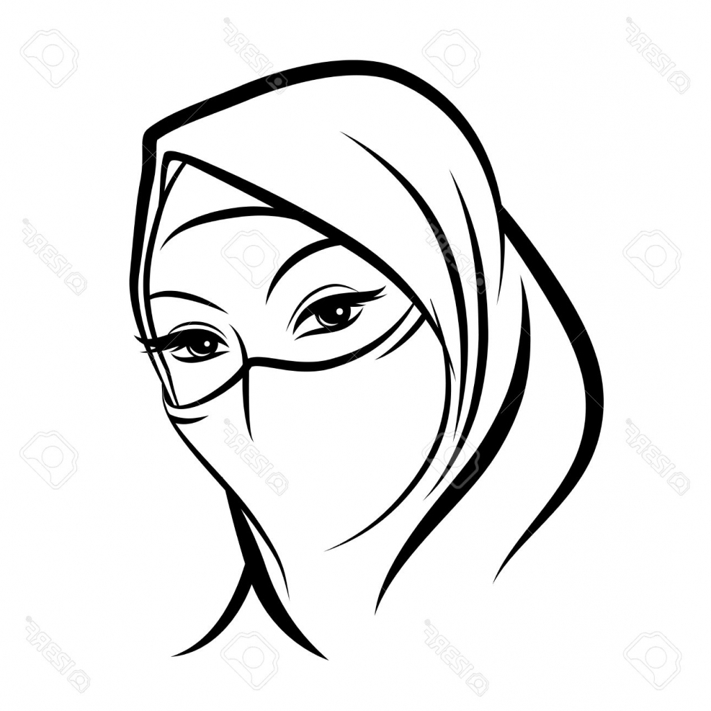 1023x1024 Islamic Girl Drawing Cartoon Drawings Of Muslim Girls Cartoon