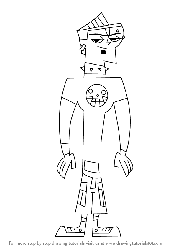 597x844 Learn How To Draw Duncan From Total Drama Island (Total Drama