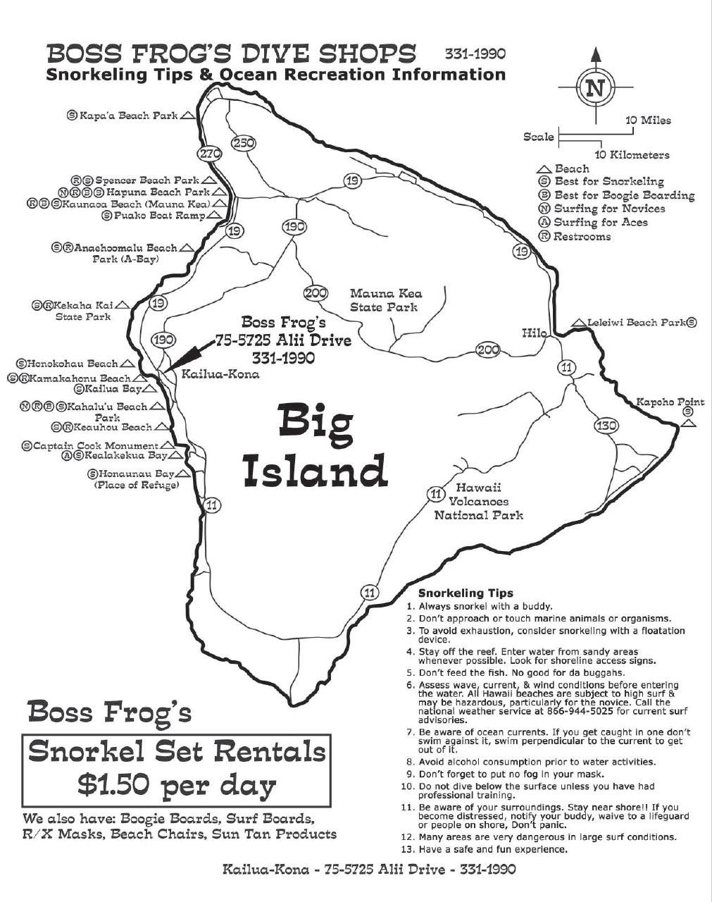 1011x1280 Big Island Snorkel Map Island Map With Snorkeling Spots Amp Info
