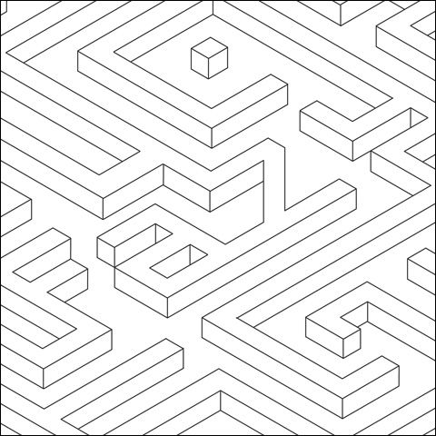 Isometric Cube Drawing