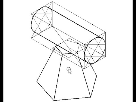 480x360 Isometric Projection Frustum Of Pentagonal Pyramid And Cylinder