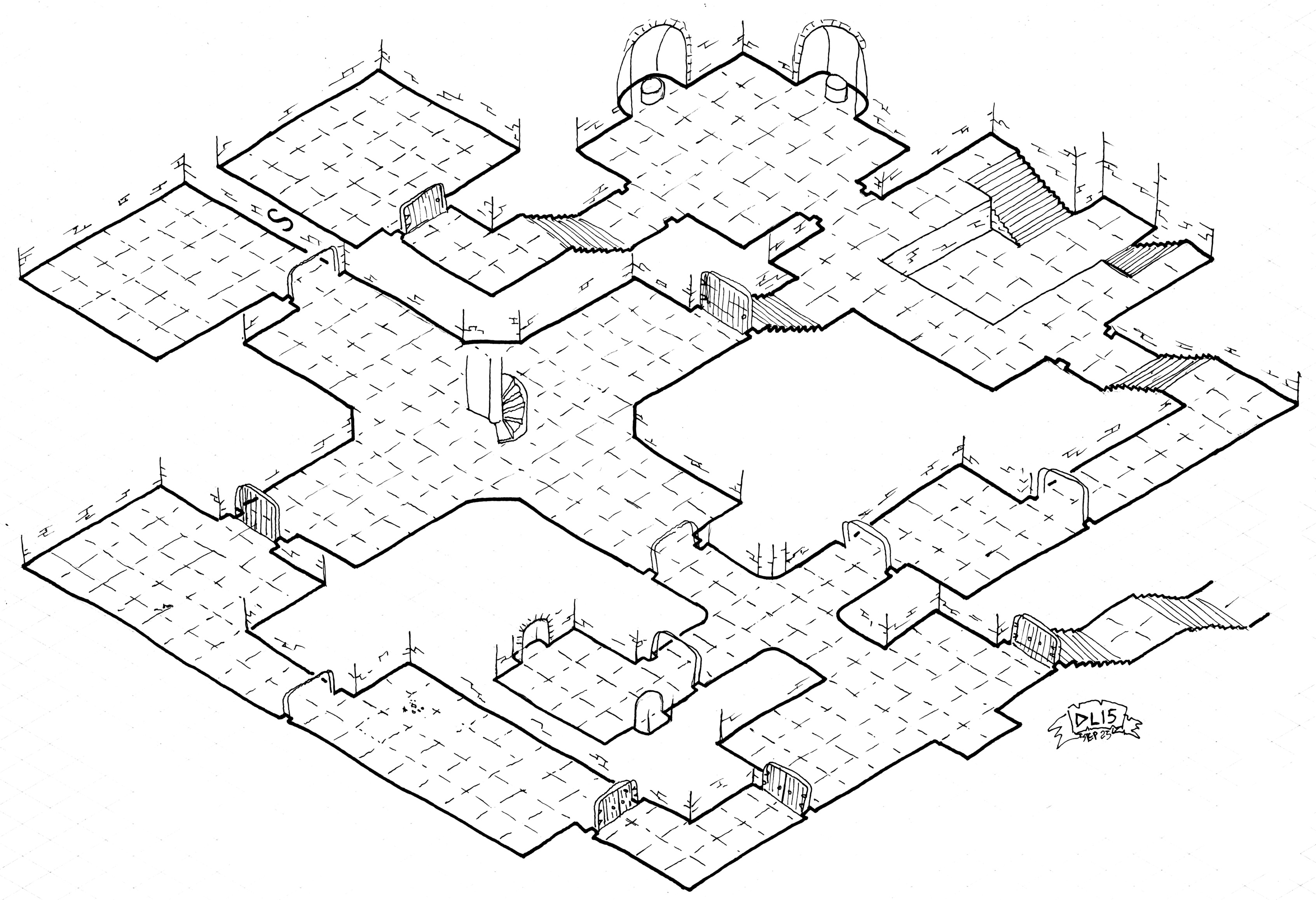 3386x2316 Friday Map] The Architect's Isometric Delve Dyson's Dodecahedron