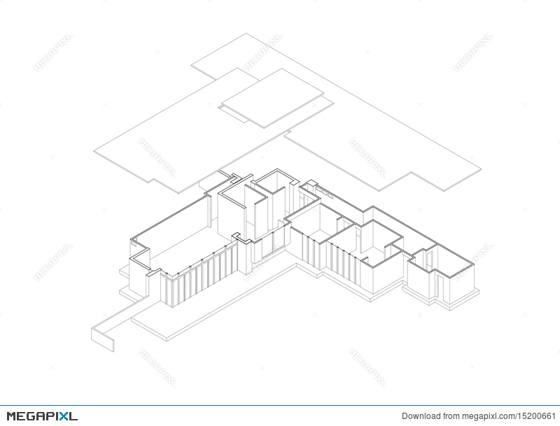 800x609 Jacobs' House Exploded Isometric Drawing Illustration 15200661