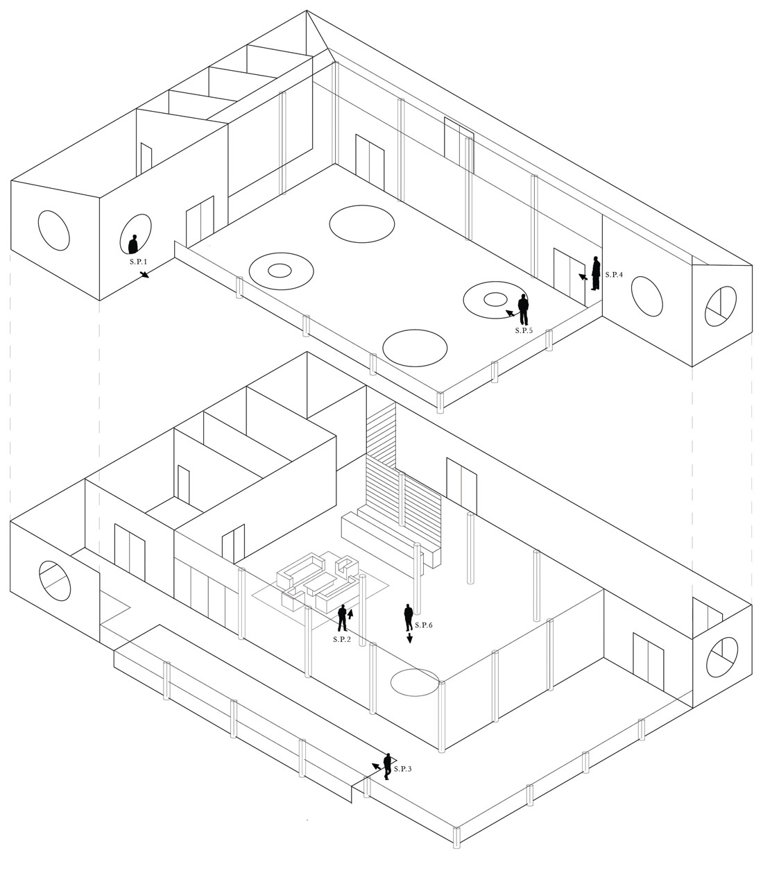 1100x1255 Penthouse Isometric Drawing