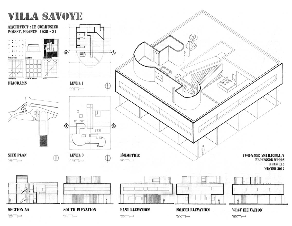 how to draw isometric of house