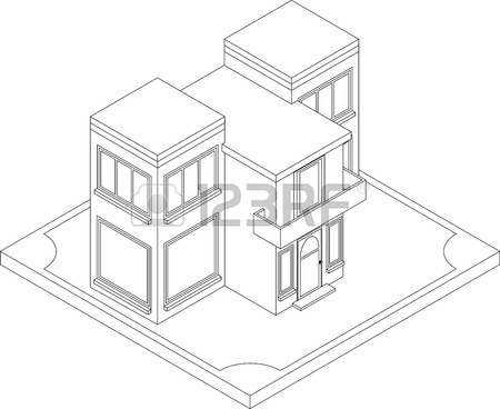Isometric House Drawing At Getdrawings Com
