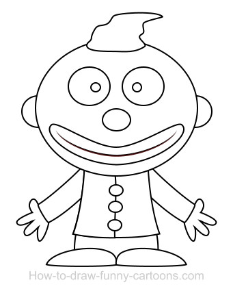 341x425 Drawing A Clown Cartoon