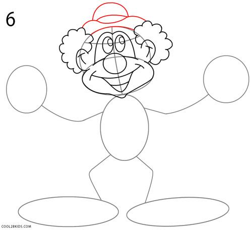 500x456 How To Draw A Clown (Step By Step Pictures) Cool2bkids