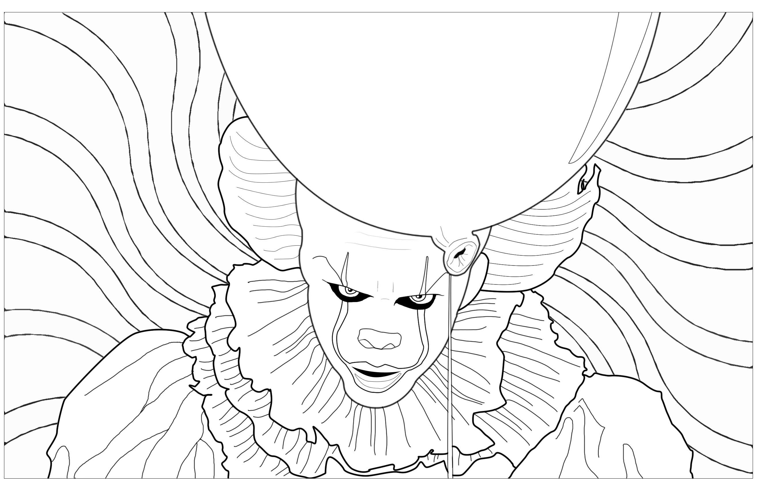 2628x1707 Ca Clown Pennywise Psychedelic Background Halloween
