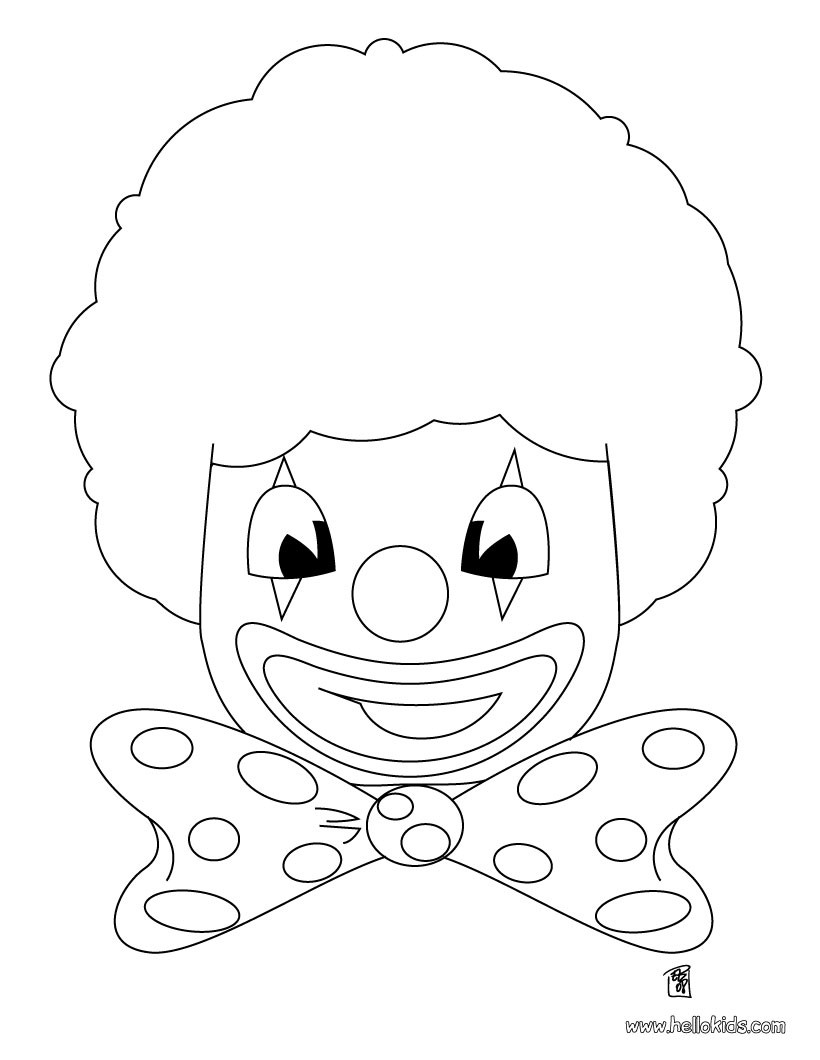 820x1060 Clown Coloring Pages, Free Online Games, Drawing For Kids, Kids