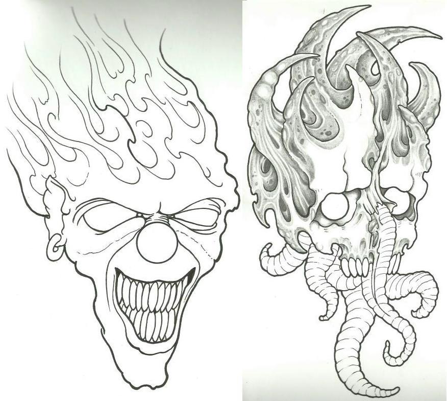876x785 Clown Skull Wip By Vikingtattoo On Clown Tattoo