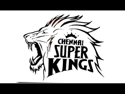 480x360 How To Draw Chennai Super Kings Logo