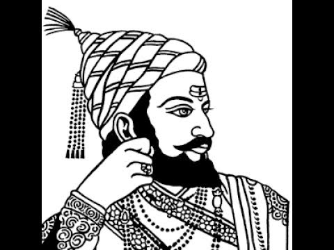 480x360 How To Draw Shivaji Maharaj Face Pencil Drawing Step By Step
