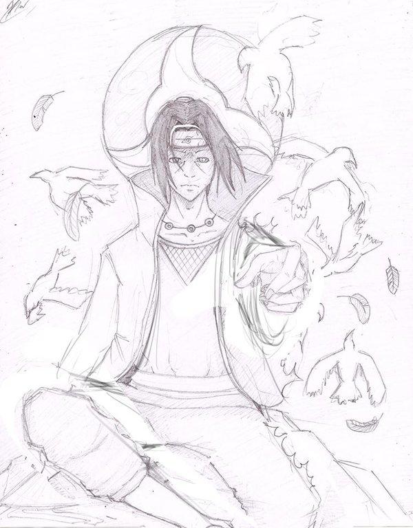 600x768 Itachi Uchiha Sketch By Romano75