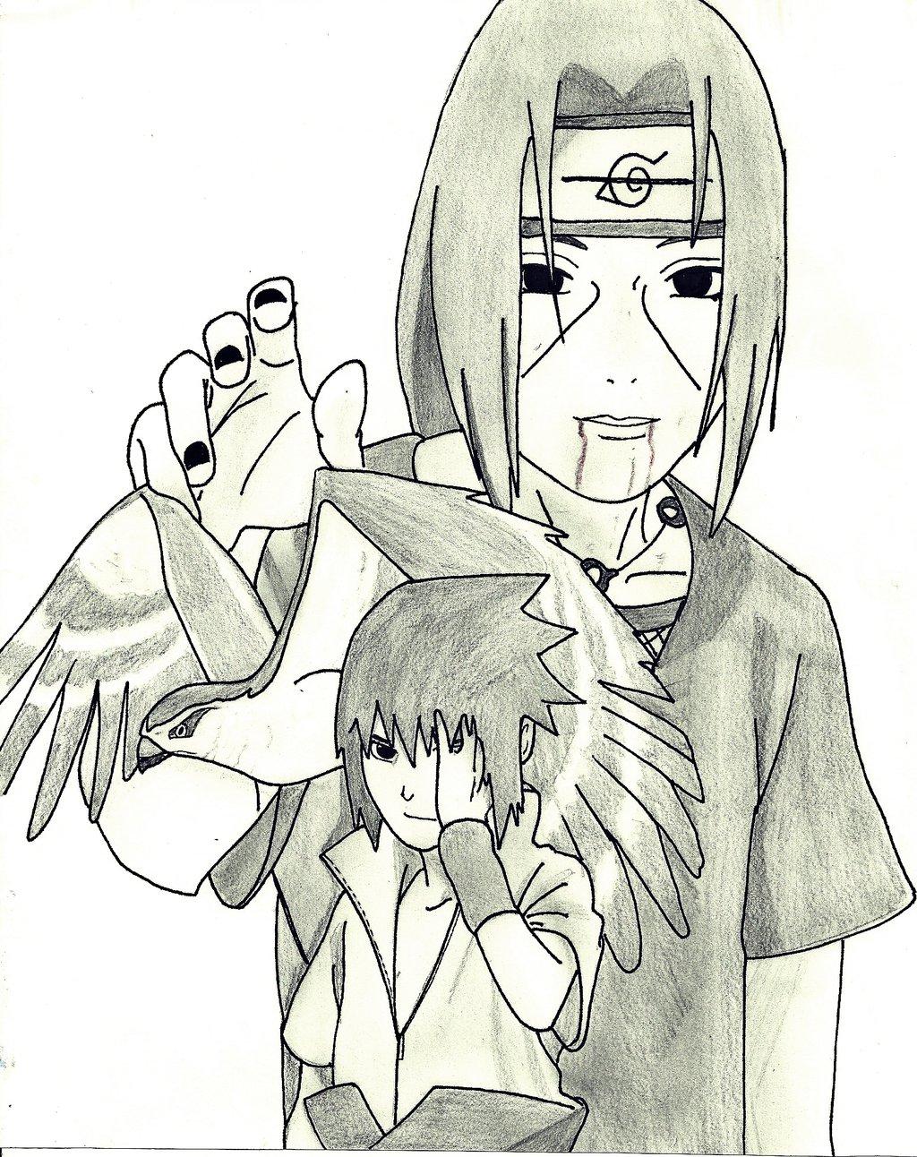 1024x1292 Itachi And Sasuke Drawing By Minatouchiha4