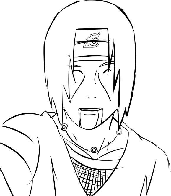 579x662 Drawing Of Itachi Uchiha Deji