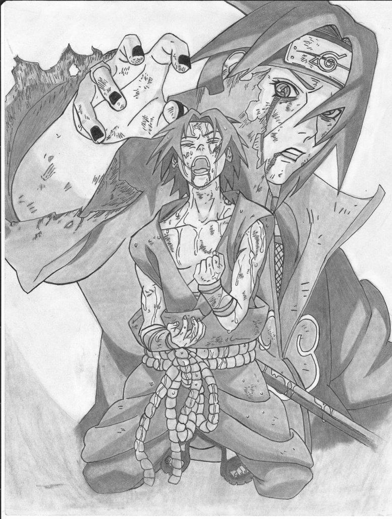 777x1028 Sasuke And Itachi By Theotherside666