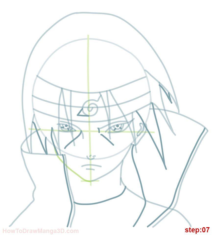 870x960 How Draw Itachi Naruto Step 06 Naruto Itachi