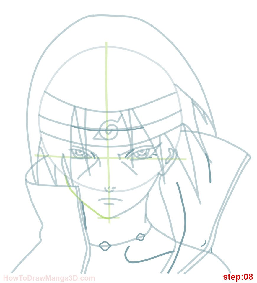 870x960 How Draw Itachi Naruto Step 07 Naruto Itachi