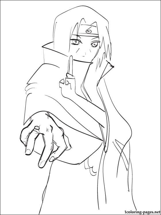 560x750 Itachi Uchiha Naruto Coloring Page Coloring Pages