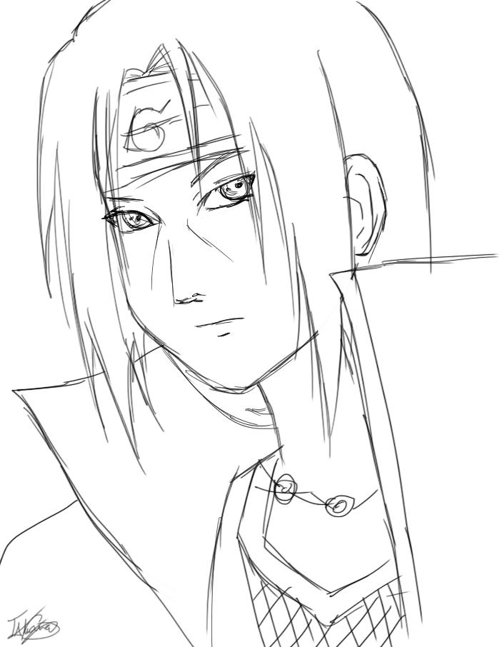 700x906 Itachi Uchiha Quick Doodle. By Lefayone