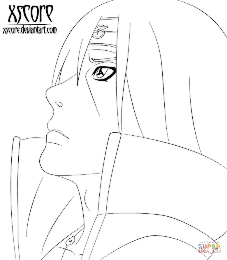 779x893 Uchiha Itachi Coloring Page Free Printable Coloring Pages