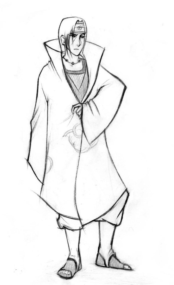 600x985 Uchiha Itachi Sketch By Nastiko