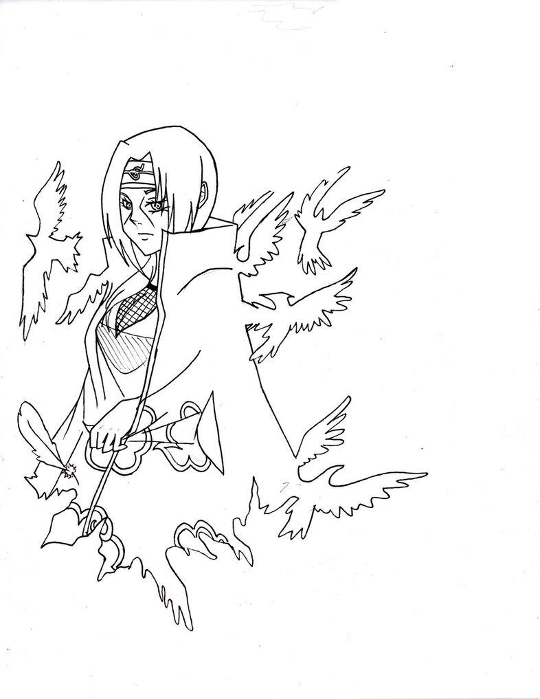 786x1017 Fem!itachi Uchiha Line Art By Madarauchiha Chan