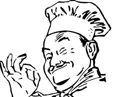 Italian Chef Drawing