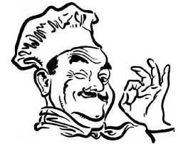 how to draw a chef cooking