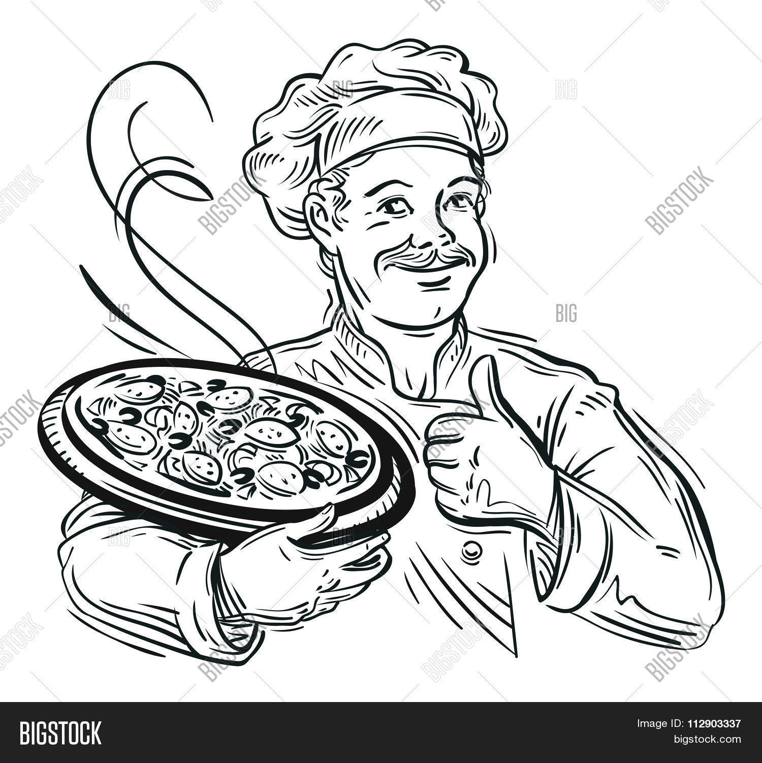 1500x1502 Illustration Italian Cartoon Chef Vector Amp Photo Bigstock