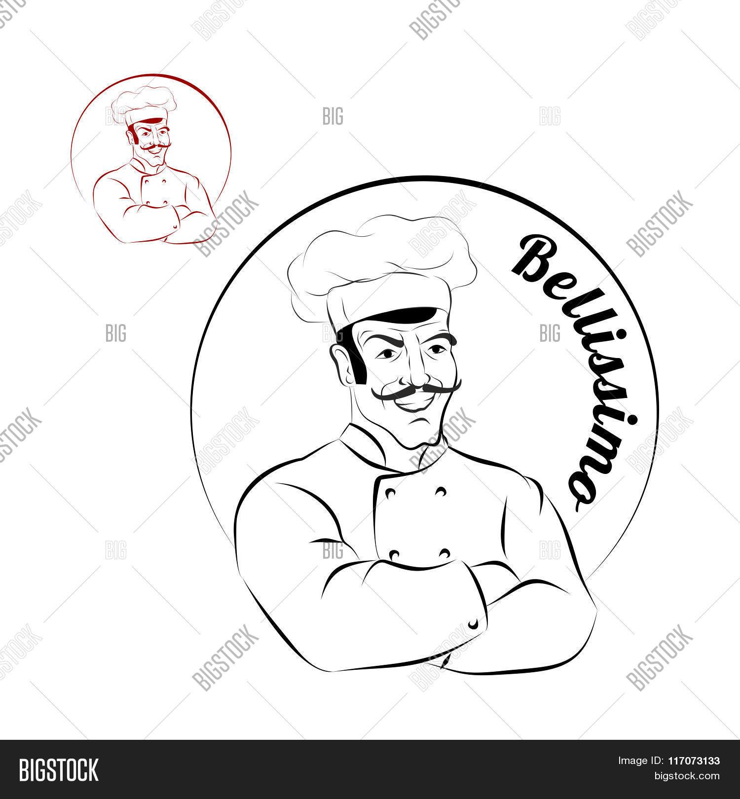 1500x1620 Italian Chef. Logo Restaurant. Vector Amp Photo Bigstock