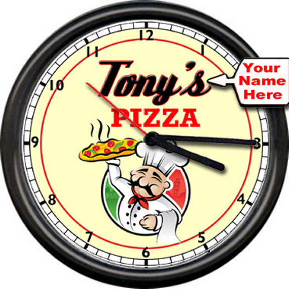 576x576 Personalized Your Name Kitchen Pizza Restaurant Italian Chef Sign