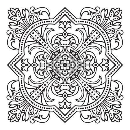 450x450 Ancient Greek Motif Hand Drawing Zentangle Element. Italian