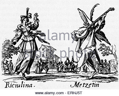 395x320 Commedia Dell'Arte Italian. 16th Century. Engraving, 19th Century
