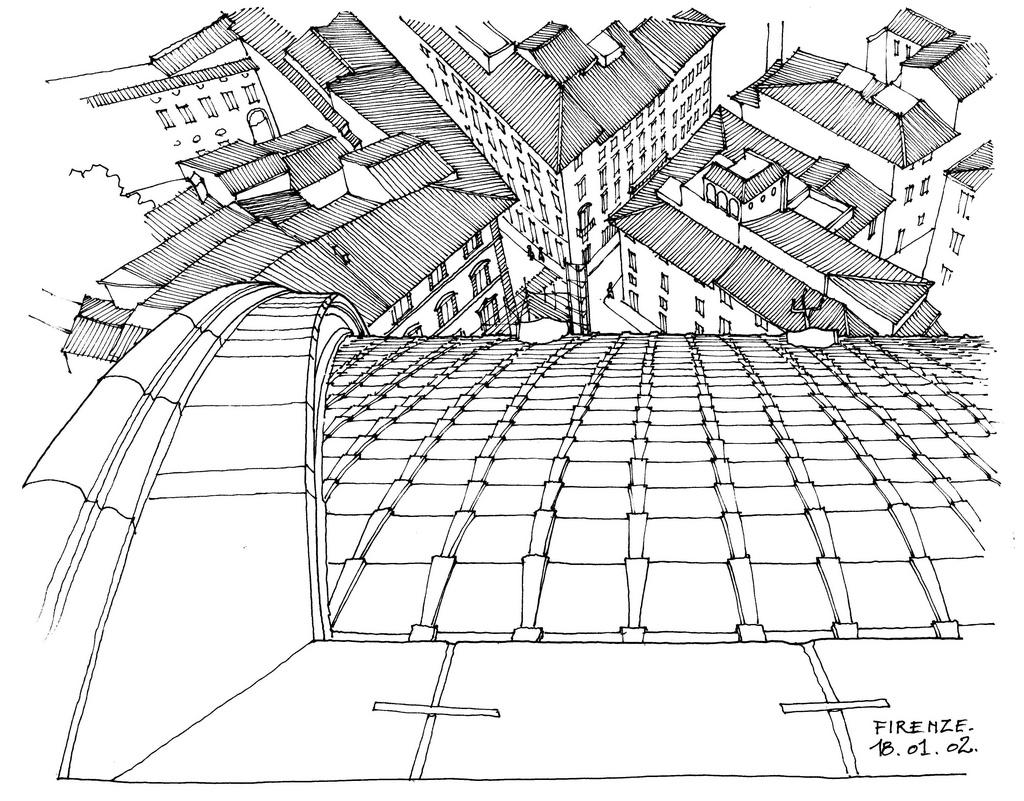 1024x801 Florence Il Duomo. Italian Urban Sketches To Capture Architecture