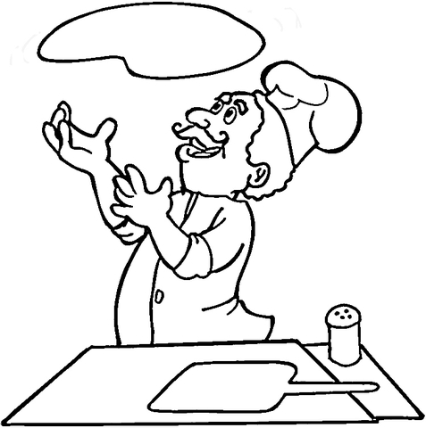 477x480 Italian Is Cooking Pizza Coloring Page Free Printable Coloring Pages
