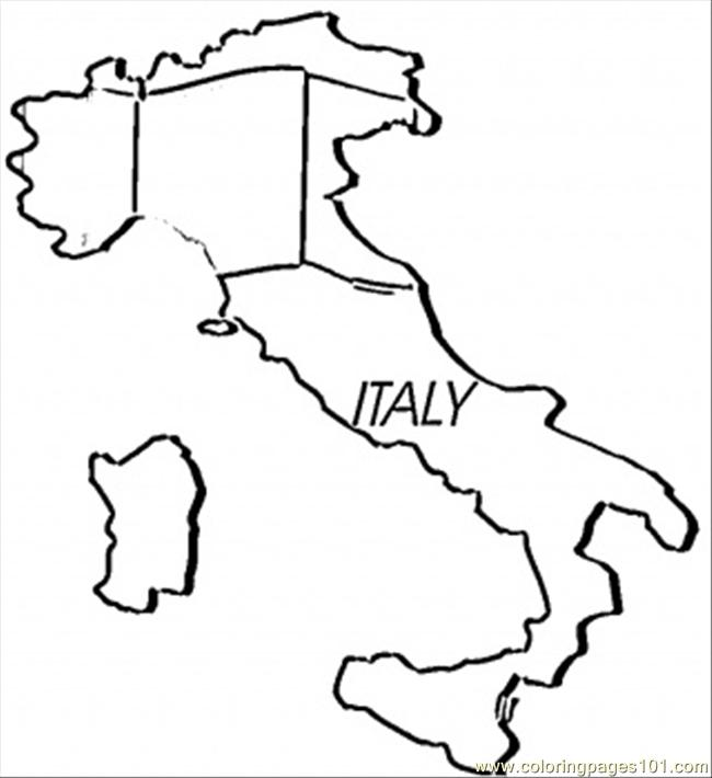650x710 Map Of Italy Coloring Page
