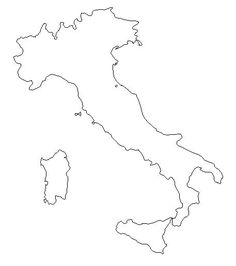 236x266 Outline Map Of Italy Printable With Italy Political Map