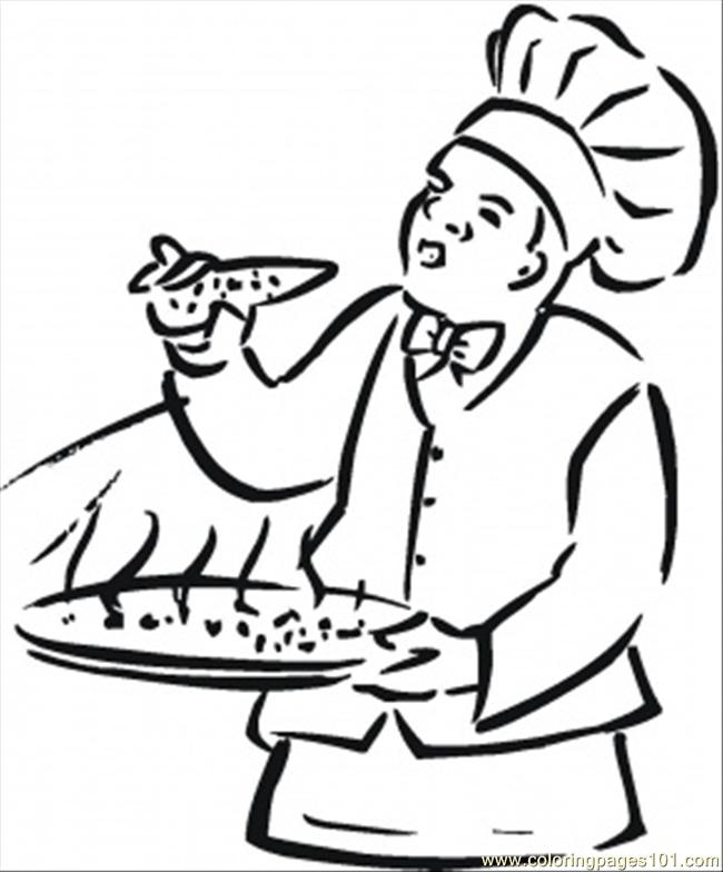 650x784 Italian Food Coloring Page