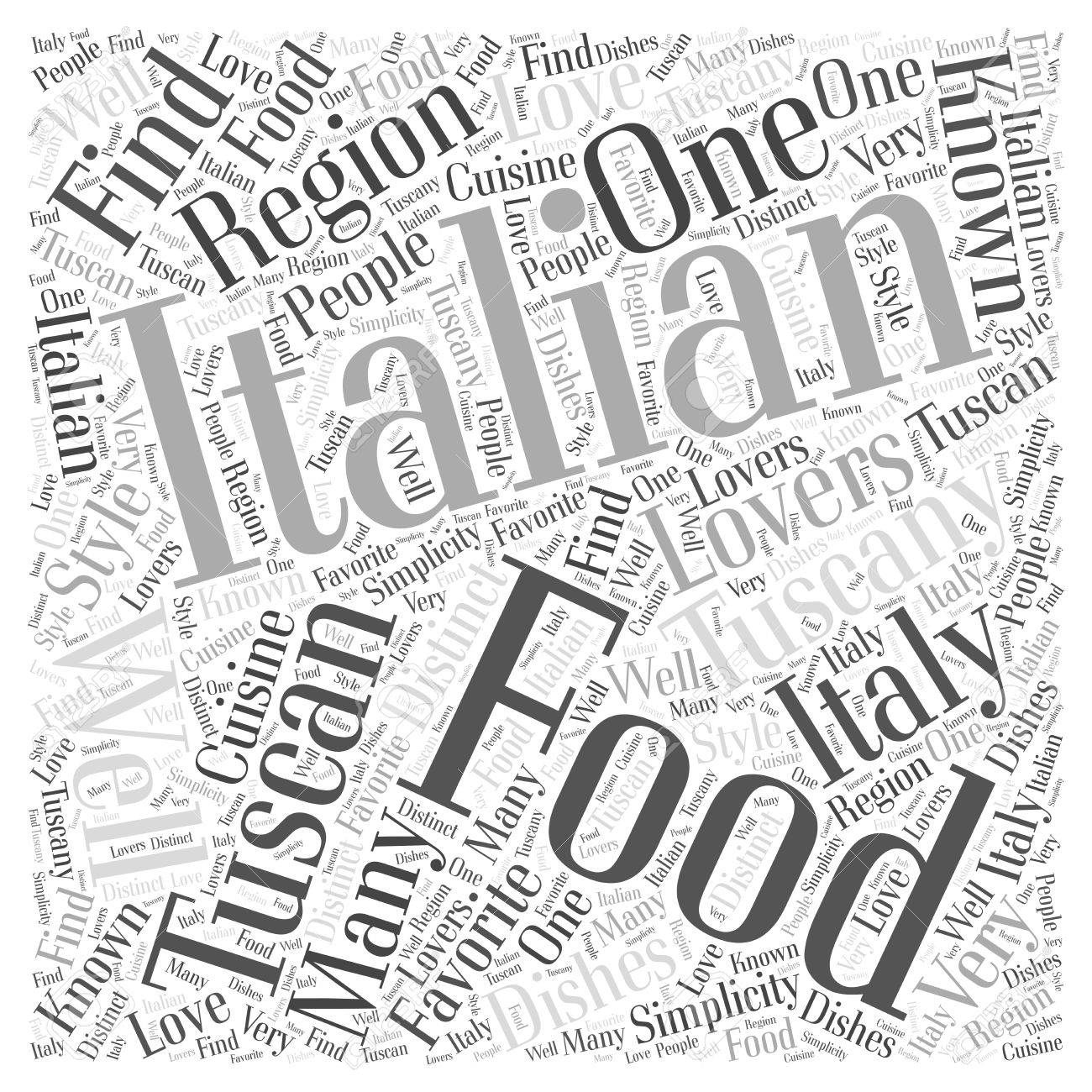 1300x1300 Tuscan Italian Food Word Cloud Concept Royalty Free Cliparts